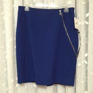 NWT Calvin Klein Blue Midi Skirt sz 6